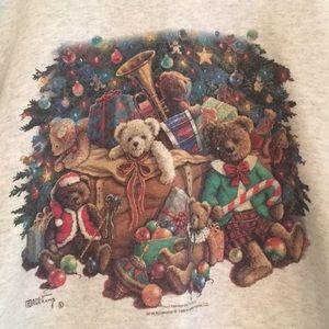 Vintage oversized faux turtleneck sweater